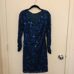 Aidan Mattox Dresses - Aidan Mattox Blue Sequin Formal Dress Size 0